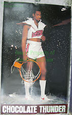 Vintage Original DARRYL DAWKINS CHOCOLATE THUNDER Nike Poster NEVER HUNG Creases