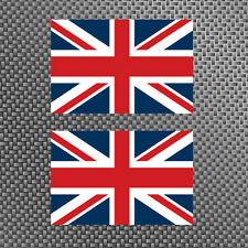 "2x United Kingdom Flag 4"" Sticker Vinyl Union Jack British Die Cut Decals UK"