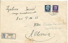 1942 Podgorica Yugoslavia Cover to Klos Albania Concentration Camp Italy stamps