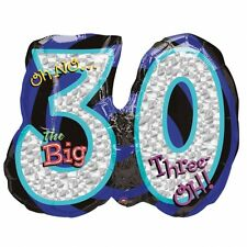 "Oh No It's My 30th Birthday Foil Supershape Balloons 26""/66cm w x 21""/53ch h"