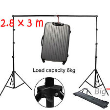 10ft Photo Photography Studio Video Lighting Backdrop Background Support Stand