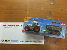 SIKU 1645 FENDT TRACTOR WITH FORESTRY TRAILER REPLICA DIECAST TOY MODEL TOY