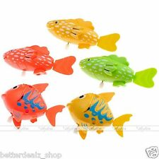 Robo Wind Up Moving Plastic Swimming Fish Frog Pet Baby Kids Bath Toy Play Tub