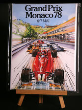 MONACO 1978 CANVAS PRINT STRETCHED AND FRAMED
