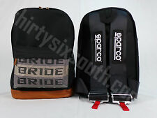 JDM Bride Racing Backpack with Racing Harness Shoulder Straps Super Cool SPR/Blk