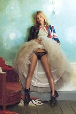 KATE MOSS MODEL IMAGE A4 Poster Gloss Print Laminated