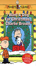Peanuts Classic I Want a Dog for Christmas, Charlie Brown (VHS, 2004)
