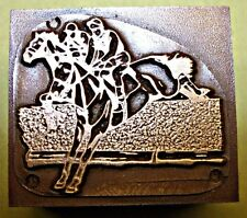"""HORSERACING"" (National Hunt) PRINTING BLOCK."