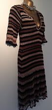 Karen Millen Crochet Stripe Jumper dress size 1