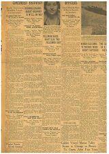 Original Newspaper Dillinger Raids Night Club Two Shot January 1 1934 1701110WR