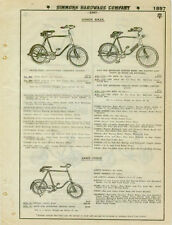 Catalog Page Ad Children's Junior Bicycles Race Cycles! SEE ! EC Simmons 1930