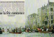 Coupure de Presse Clipping 1998 (6 pages) Le Carnaval de Venise