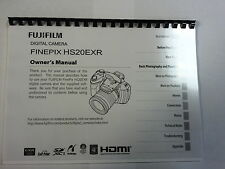 FUJIFILM HS20EXR/HS22EXR PRINTED INSTRUCTION MANUAL USER GUIDE 132 PAGES A5