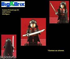 LADY SHIVA DC Custom Printed LEGO Minifigure with Sword!