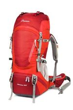 Mountaintop 60L/55L+5L Water-resistant Hiking Backpack Internal Frame Red