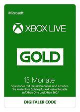 Xbox 360 Live Gold 12+1=13 Monate Code Abonnement Mitgliedschaft SOFORT PER MAIL