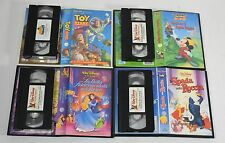 Walt disney home video lotto 4 VHS cartoni Topolino Toy Story Spada Roccia -LB