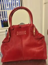 Auth!! ALEXANDER MCQUEEN Pony Hair De Manta Leather Tote Handbag