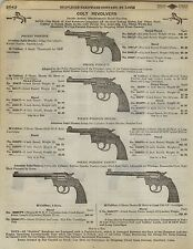 1923 Paper AD Colt Revolver Pocket Positive Police Target Smith & Wesson