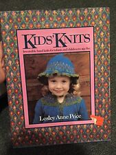 Kids' Knits Knitting Book Crafts HCDJ Lesley Ann Price 1984 Free Shipping