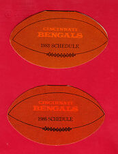 1982, 83, 86 & 89 Cincinnati BENGALS Schedules - Central Trust Company, Match