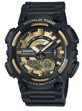 Casio AEQ110BW-9A Men's World Time Telememo Analog Digital Alarm Chrono Watch