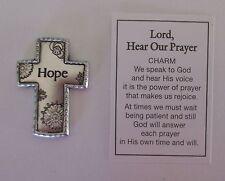 q Hope Cross LORD HEAR OUR PRAYER POCKET TOKEN CHARM bird ganz