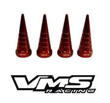 VMS BILLET ALUMINUM RED B16 B18 VTEC VALVE COVER SPIRAL SPIKE NUTS BOLTS 8 PCS