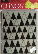 """Hero Arts Clings """"Triangle Tree"""" Rubber Stamp * New*"""