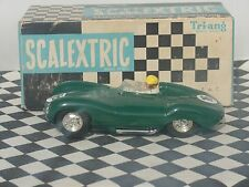 SCALEXTRIC D-TYPE JAGUAR   GREEN   #16   C60  1960'S   1.32   USED BOXED