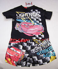 Disney Cars McQueen Boys Black Printed Pyjama Set Size 7 New