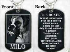 DOG BOXER + POEM - Dog tag Necklace/Key chain + PERSONALIZED NAME