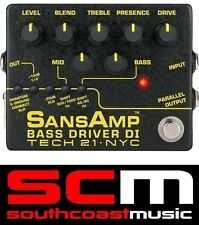 TECH 21 NYC SANSAMP V2 BASS DRIVER DI BOX AWARD WINNING BASS GUITARISTS TOOL