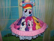 Handmade My Little Pony Twiligth Sparkle/Pinkie Pie/Rainbow  Dress Size 4t