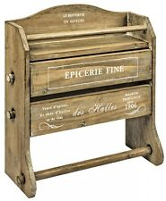 Epicerie Kitchen Roll Foil Film Herbs Spices Rack Wooden French Style