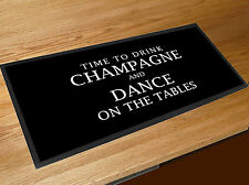 Champagne quote bar runner Pub Clubs & Cocktail Bars counter mat