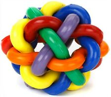 """Multipet Nobbly Wobbly Rubber Ball 4"""" Free shipping"""