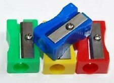 QTY 5 Plastic Pencil Sharpeners 4 assorted various colours and FREE Delivery
