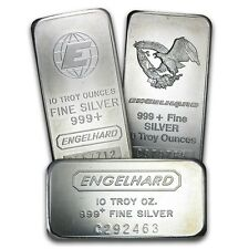 10 oz Engelhard Silver Bar - Random Selection - SKU #40252