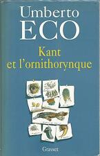 UMBERTO ECO KANT ET L'ORNITHORYNQUE + PARIS POSTER GUIDE