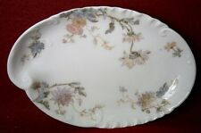 HAVILAND France Limoges Schleiger 86 CHRYSANTHEMUM Oval Bone or Side Dish - 6""