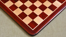 """Wooden Chess Board Blood Red Bud Rose Wood 21"""" - 55 mm - FREE SHIPPING  D0131"""