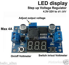LED DC-DC Boost Step-up Converter 4V-32V 5V to 6V-35V 9V 12V 24V 4A Power Supply