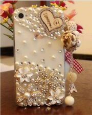 Hot Handmade Luxury Bling Diamond Rhinestone Crystal Jewelled Clear Case Cover