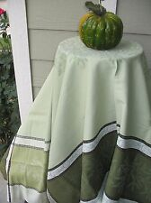 French JACQUARD TABLECLOTH Woven OLIVE 75x60 Fall Colors PROVENCE Teflon Coated