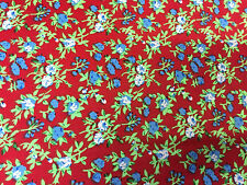 """Floral Peach Touch Crepe Fabric Dress Making - By Meter - 60"""" Wide"""