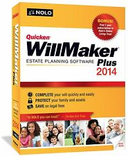 Quicken Willmaker Plus 2014 by Nolo Platform : Windows 7, Windows Vista, Windows