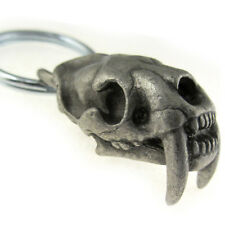 Smilodon fatalis Sabertooth Skull Paleontology Keychain or Zipper Pull