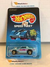 #4 Blown Camaro Z-28 5138 * TEAL * 1988 Malaysia * Vintage Hot Wheels * H91