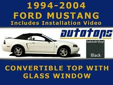 Mustang Convertible Soft Top and Glass Window in Black Sailcloth  Install Video